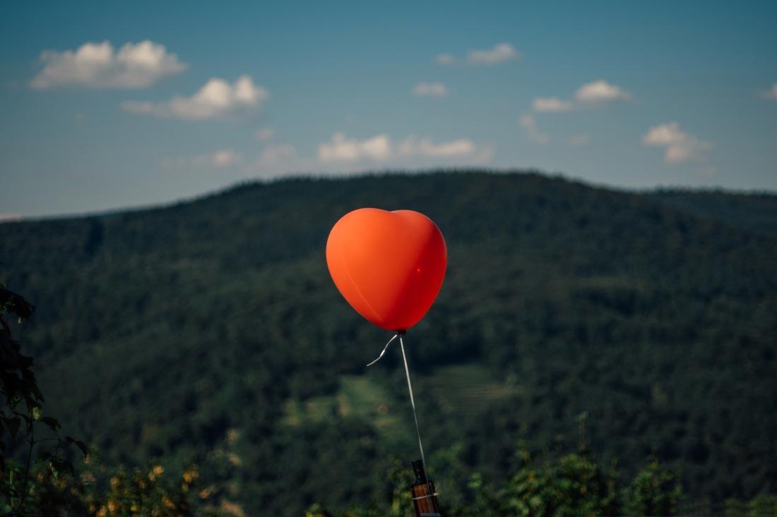 Einsamer Luftballon