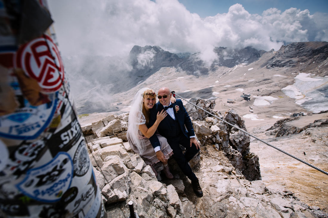 Getting married on the zugspitze