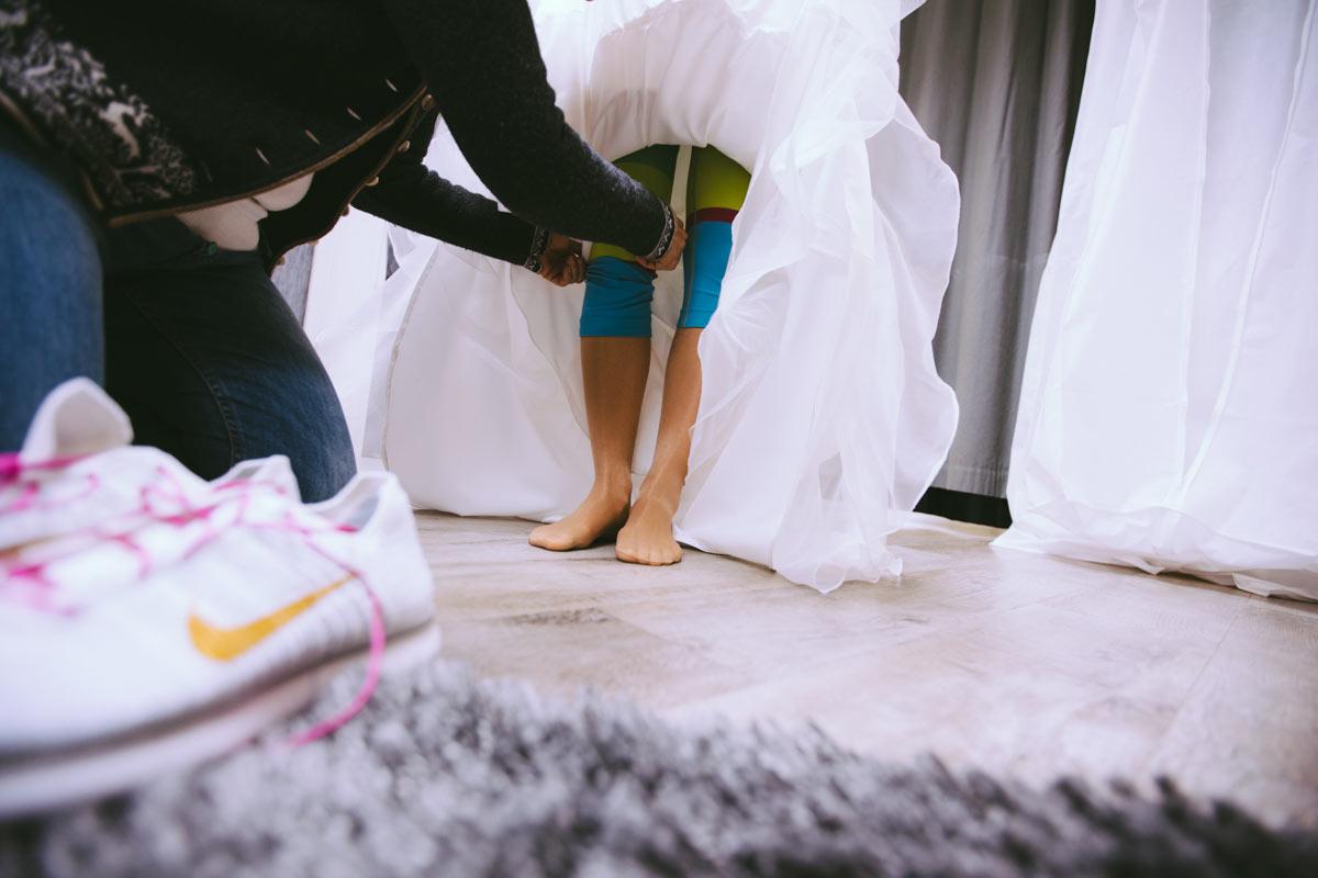 Die Unterwäsche wird gerichtet