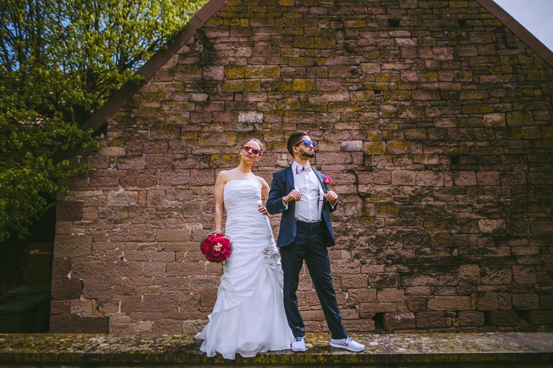 Coole Hochzeitsbilder mit Sonnenbrille