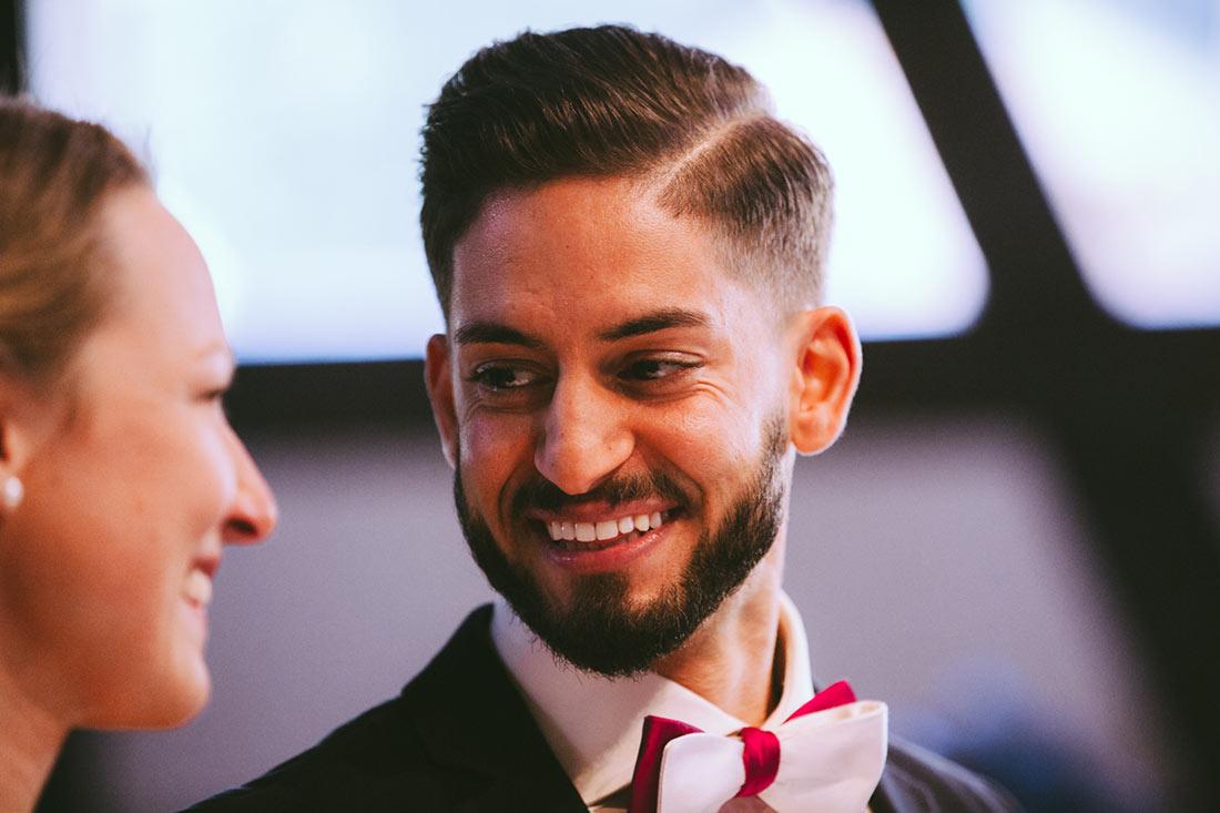 Glücklicher Bräutigam