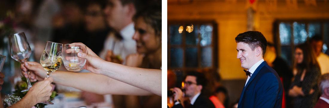 Gut gelaunter Hochzeitsgast