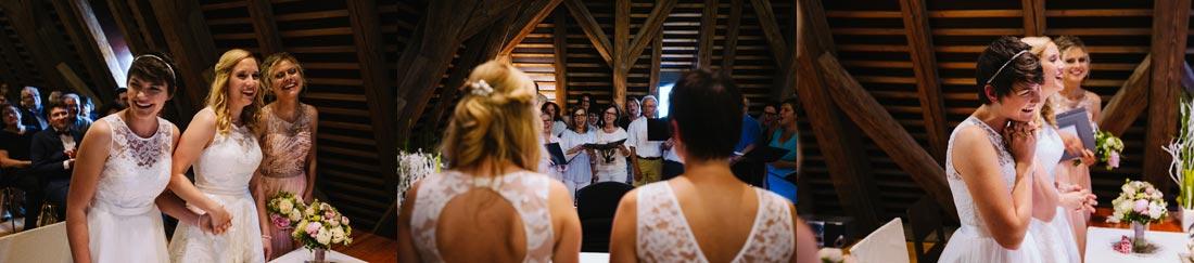 Der Chor singt nochmal für das Paar