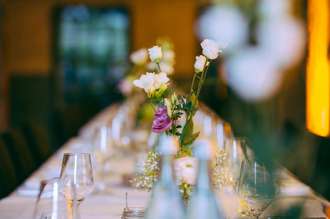 Blumen auf dem Tisch Gourmet Berner