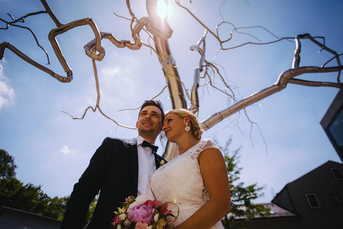 Hochzeitsbilde rin der Nähe des Standesamtes