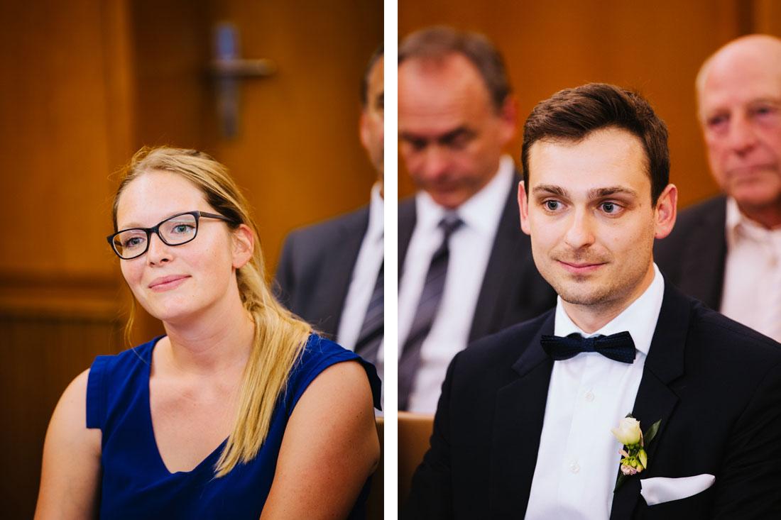 Bräutigam und Trauzeugin