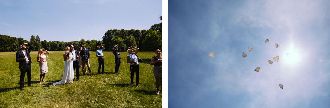Luftballons im Englischen Garten