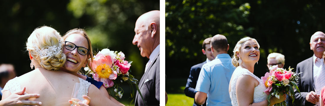 Glückwunsch an die Braut