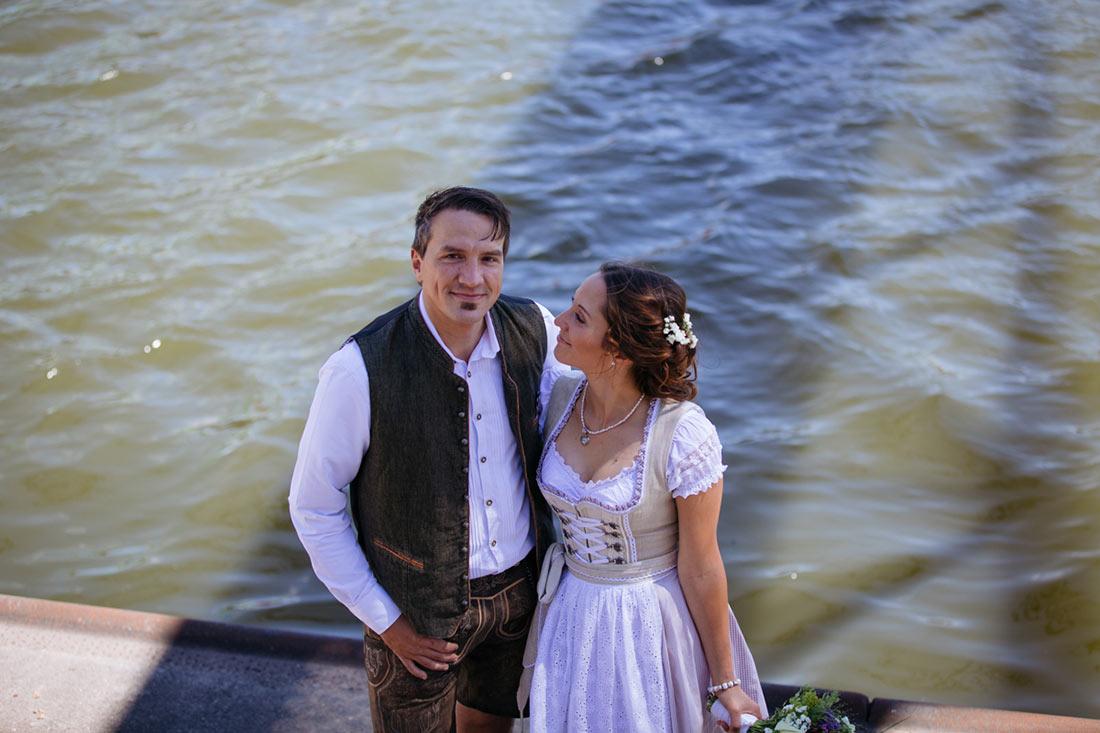 Hochzeitfoto am Stuttgarter Hafen