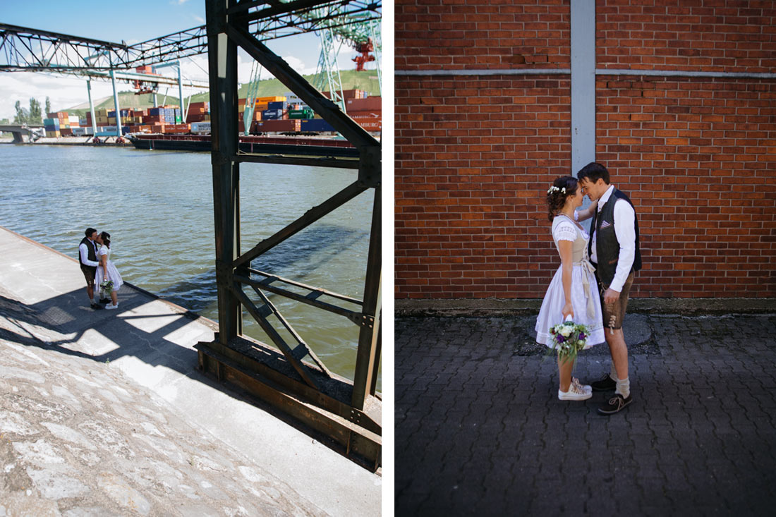 Hochzeitsfotografie am Stuttgarter Hafen