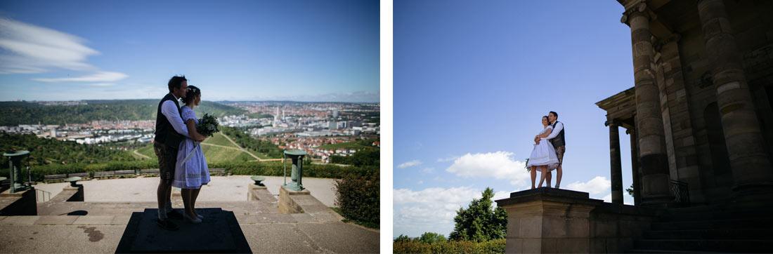 Hochzeitsbilder mit Blick auf Stuttgart
