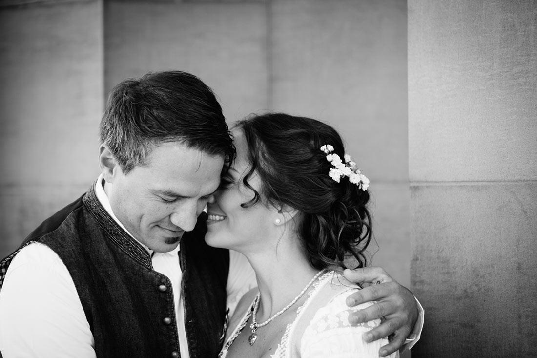 Schönes schwarzweiss Bild des Paars