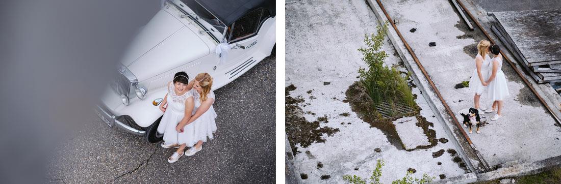 Hochzeitsbilder von oben