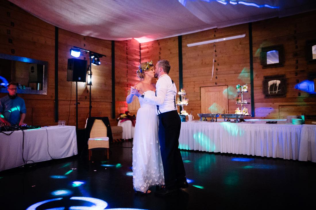 Kuss am Ende des Tanzes