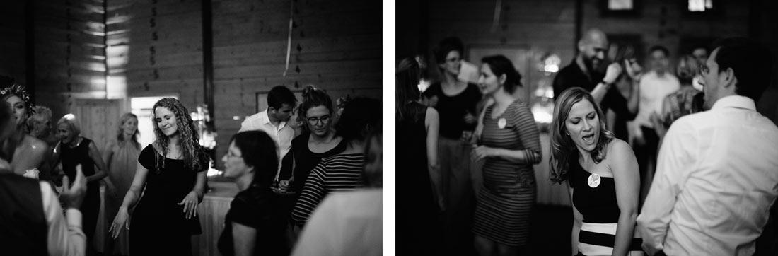 Partybilder in schwarzweiss