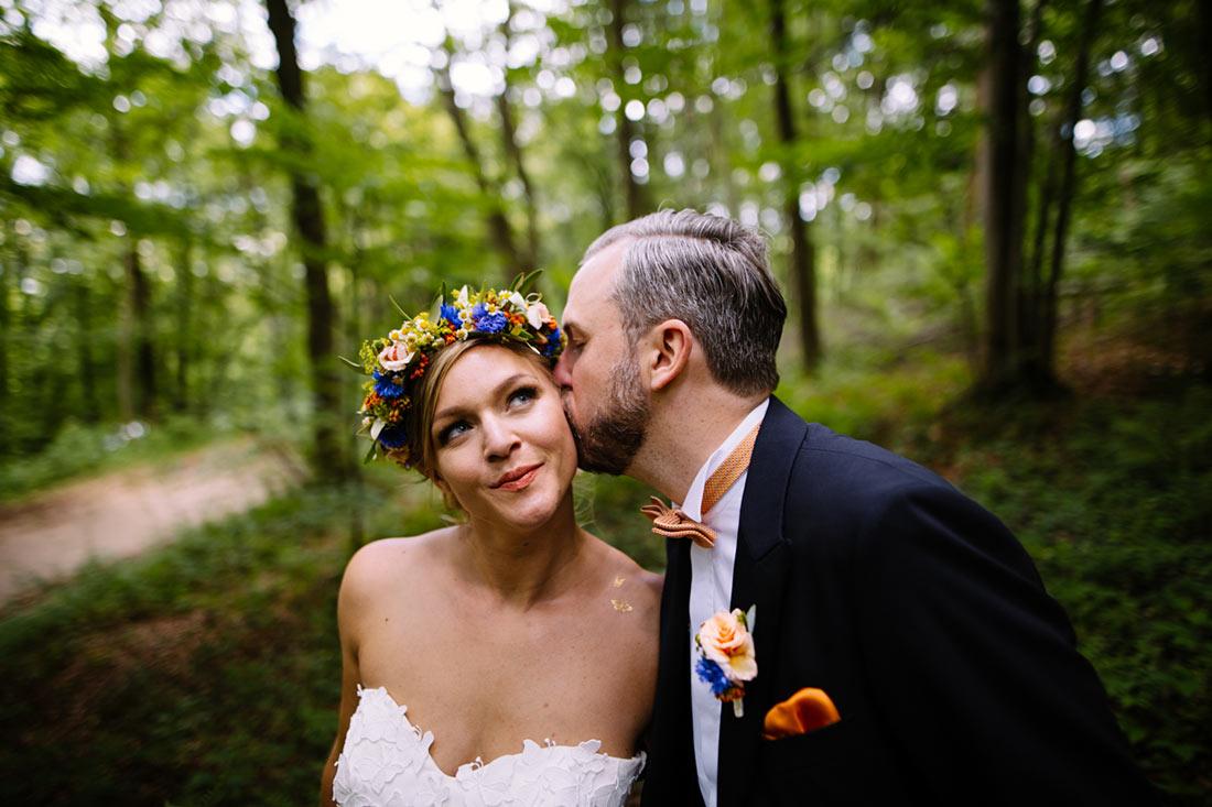 Ein Kuss im Wald