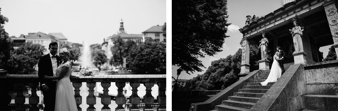 Hochzeitsbilder in schwarzweiss in München