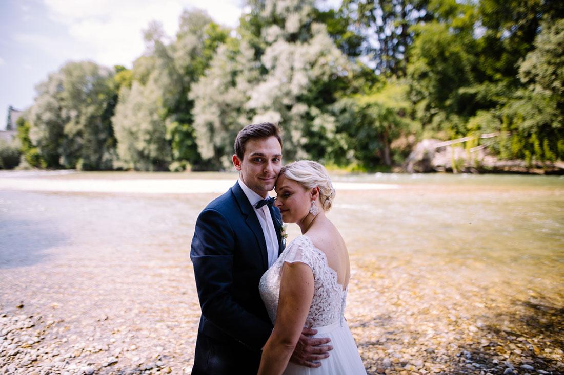 Hochzeitsfotos an der Isar