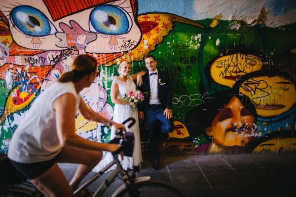 Hochzeitsfotos in Münchner Unterführung