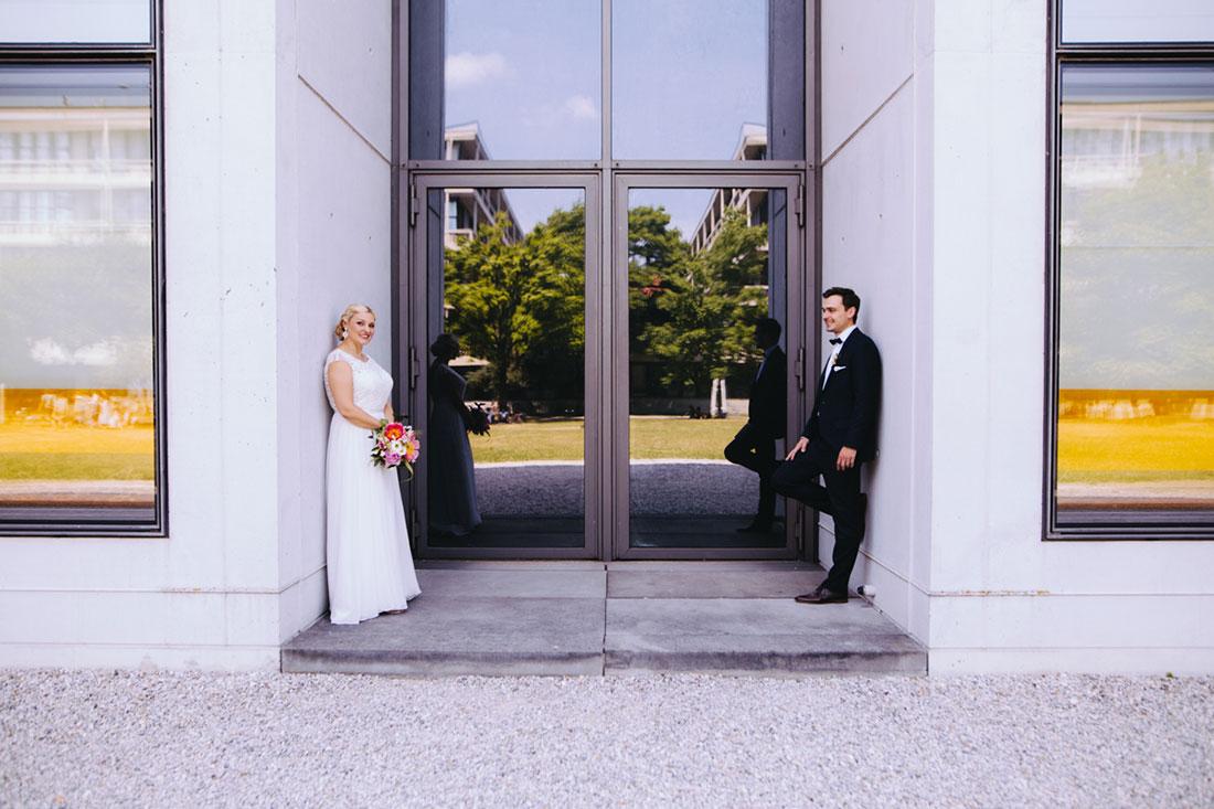 Hochzeitsfotografie an der Pinakothek in München