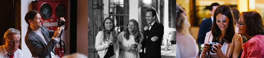 Hochzeitsgäste fotografieren