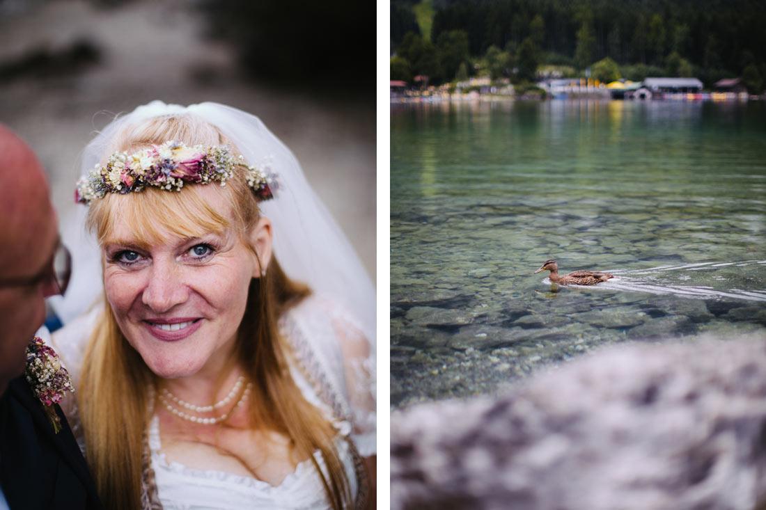 Portrait der Braut am Eibsee