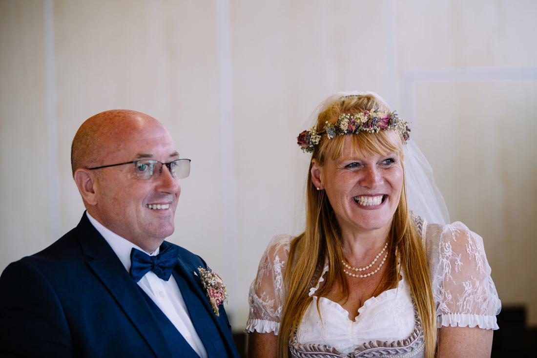 Das Paar kurz vor dem Ja-Wort
