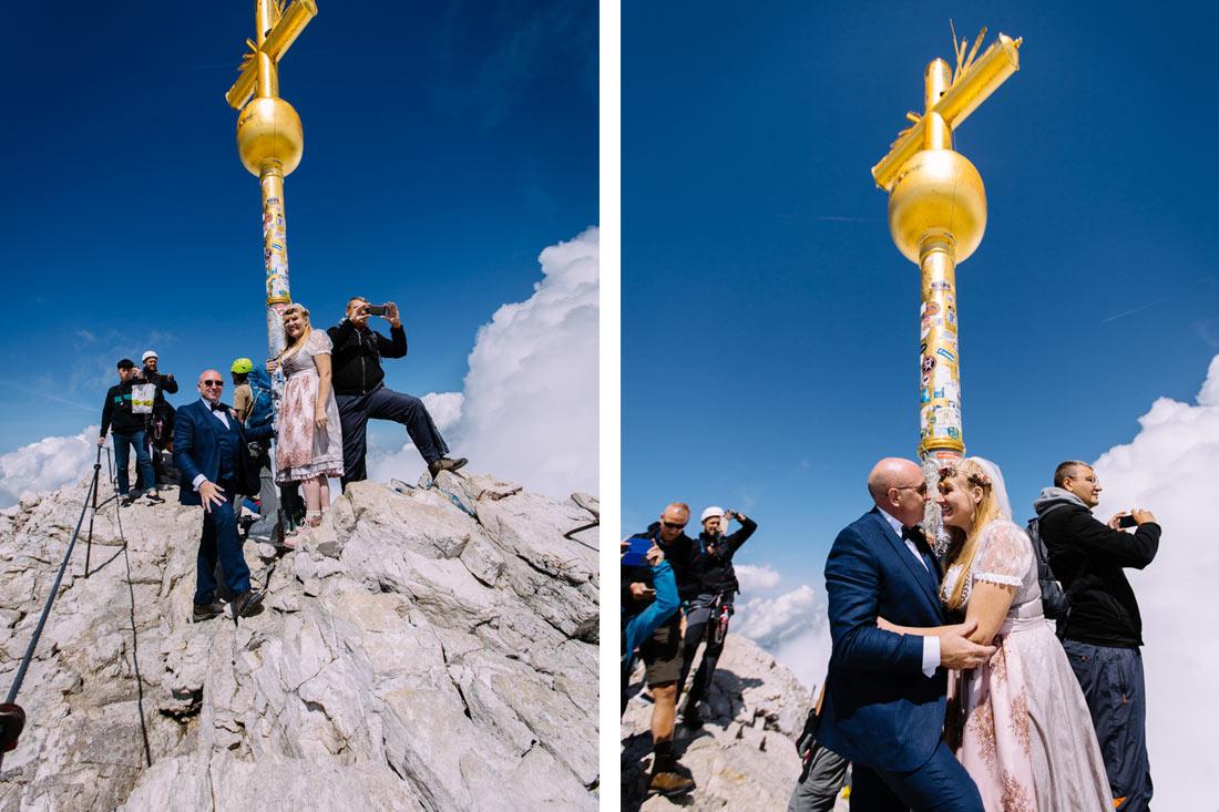 Hochzeitsfotos auf der Zugspitze