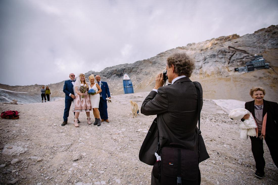 Hochzeitspaare auf der Zugspitze