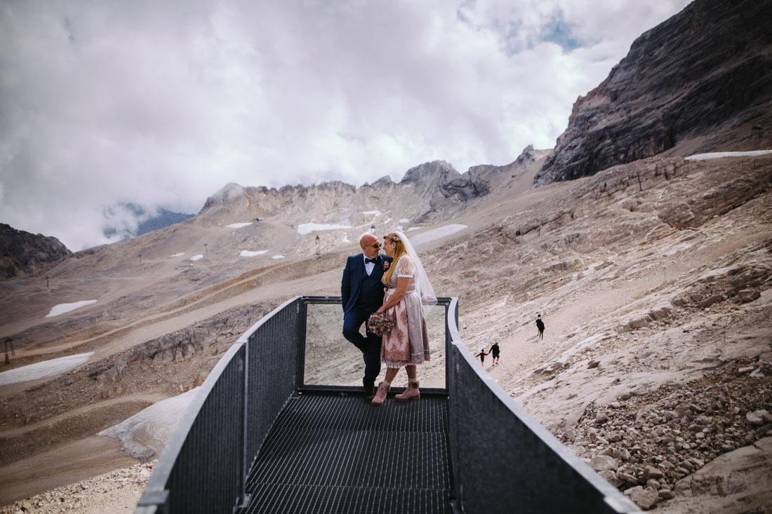 Hochzeitsbilder auf Aussichtsplattfrom