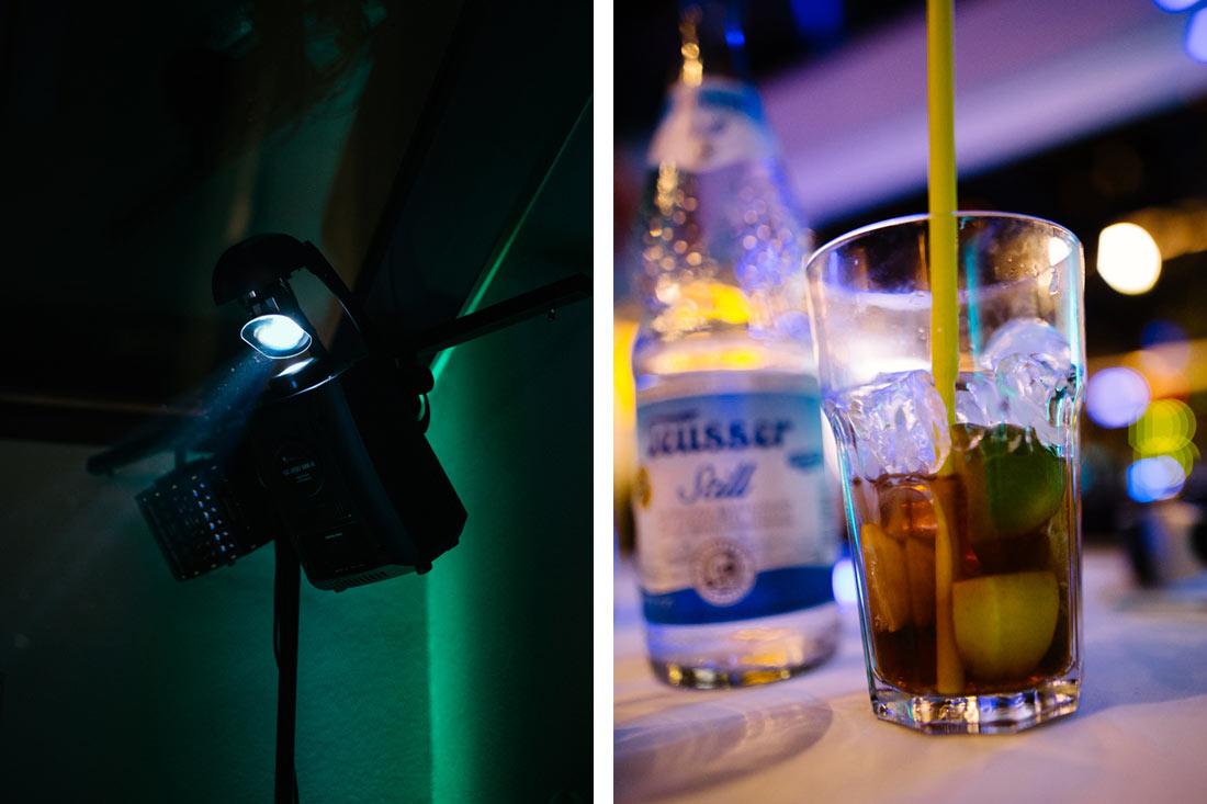 Cocktail und Strahler