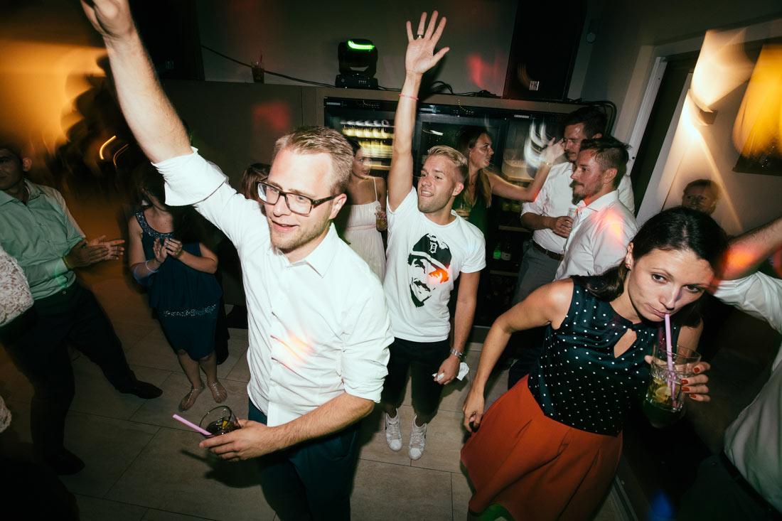 Beste Stimmung auf der Party