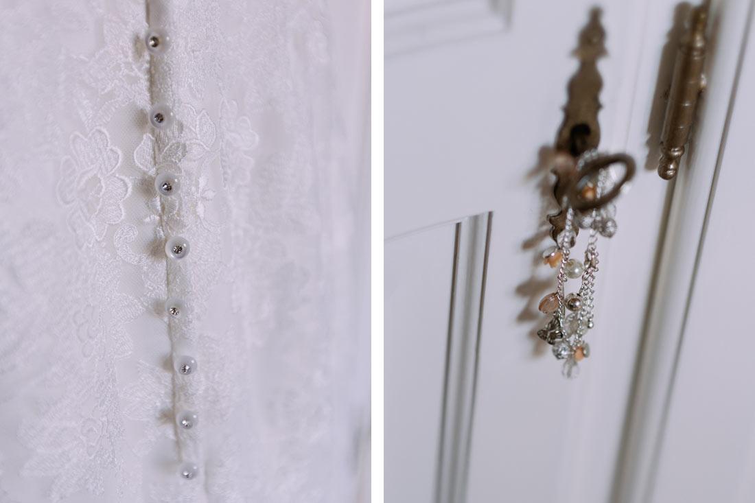 Details des Hochzeitskleids