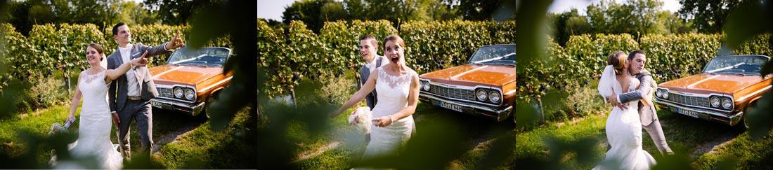 Hochzeitspaar albert beim Shooting rum
