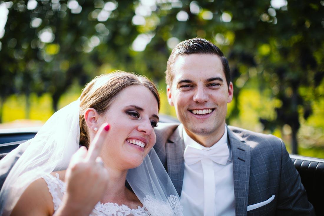 Mittelfinger der Braut
