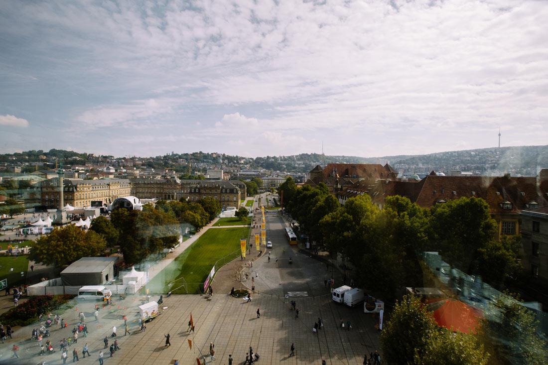 Aussicht auf den Schloßplatz Stuttgart