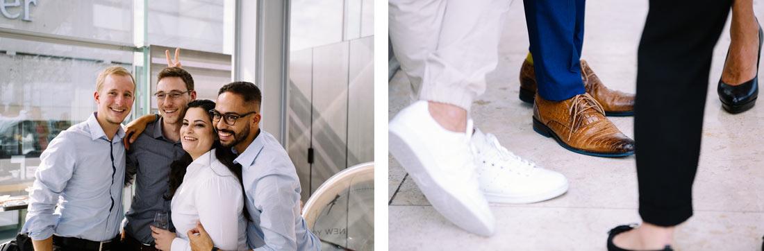Coole Schuhe eines Gastes
