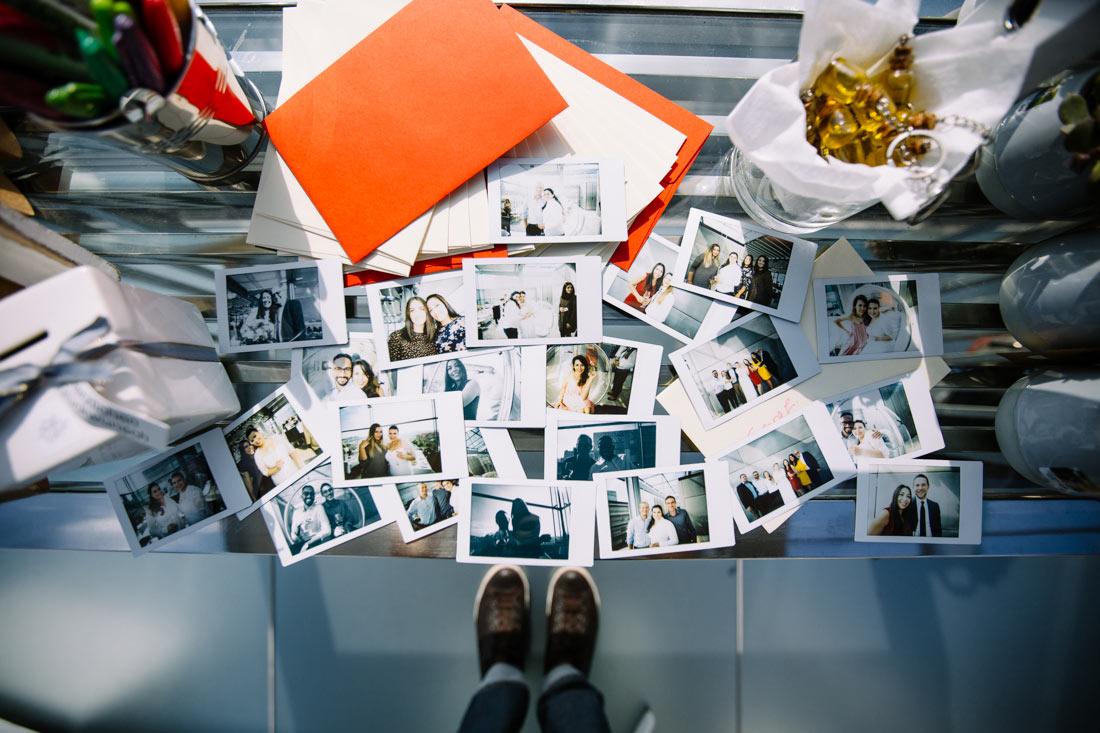 Polaroids der Feier