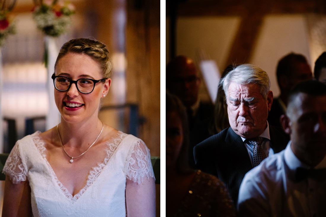 Braut bei der Zeremonie