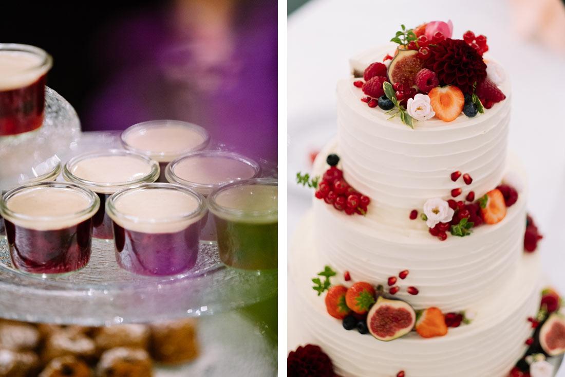 Desert und Hochzeitstorte