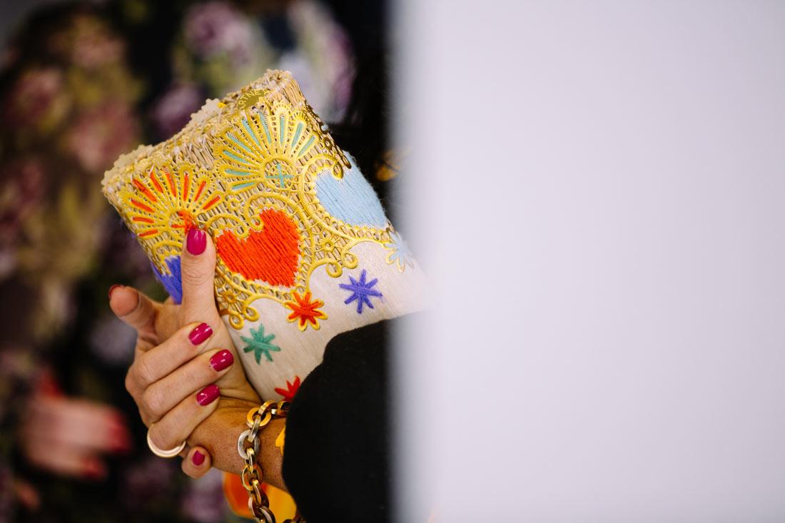 Herz auf einer Handtasche