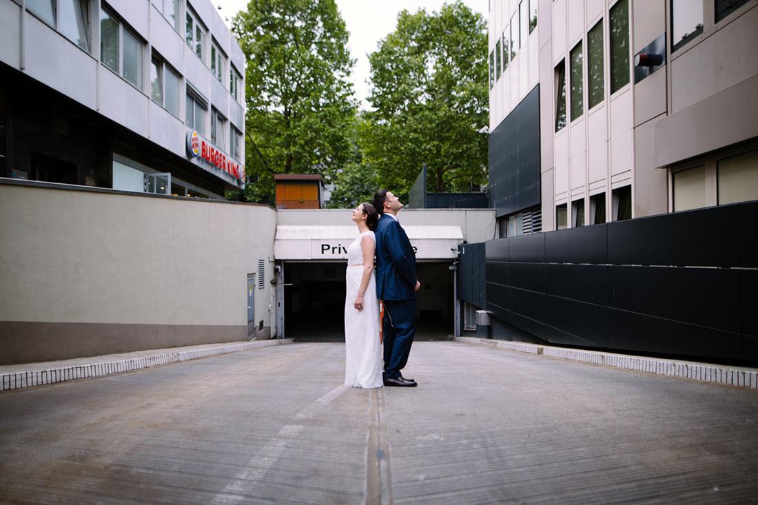 Urbanes Hochzeitsshooting in Stuttgart
