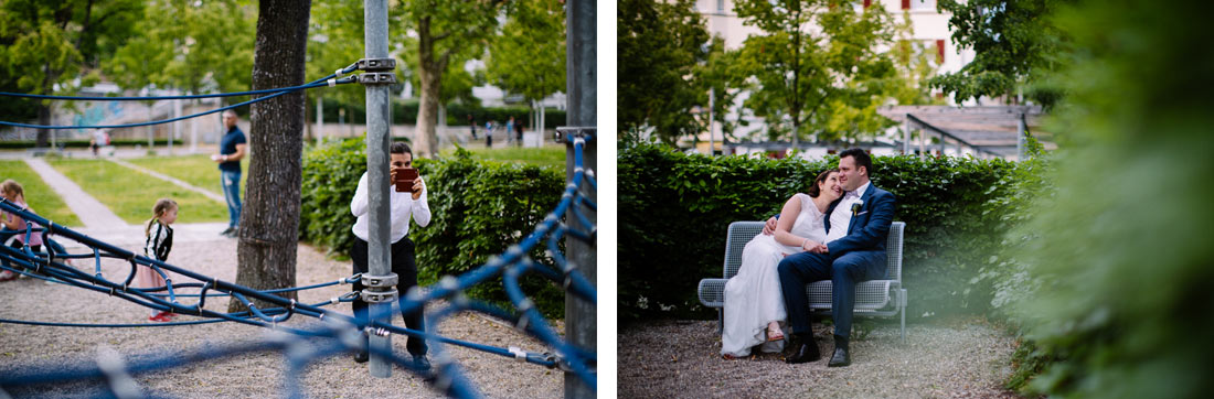Paar wird heimlich fotografiert