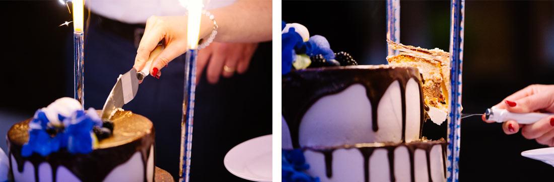 Das erste Stück aus der Torte