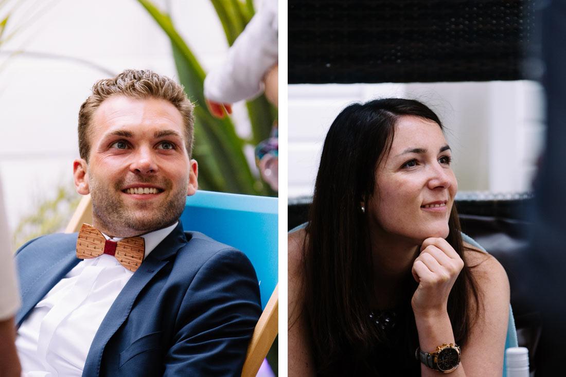 Portrait zweier Hochzeitsgäste