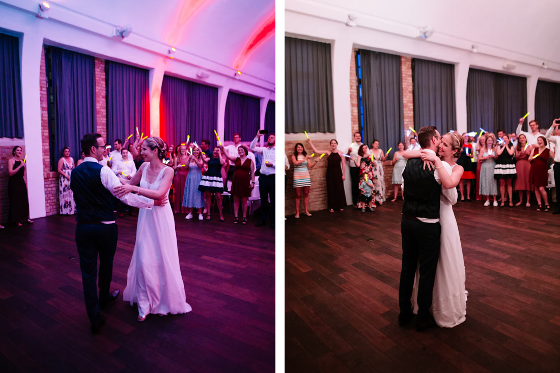 Ende des Hochzeitstanz