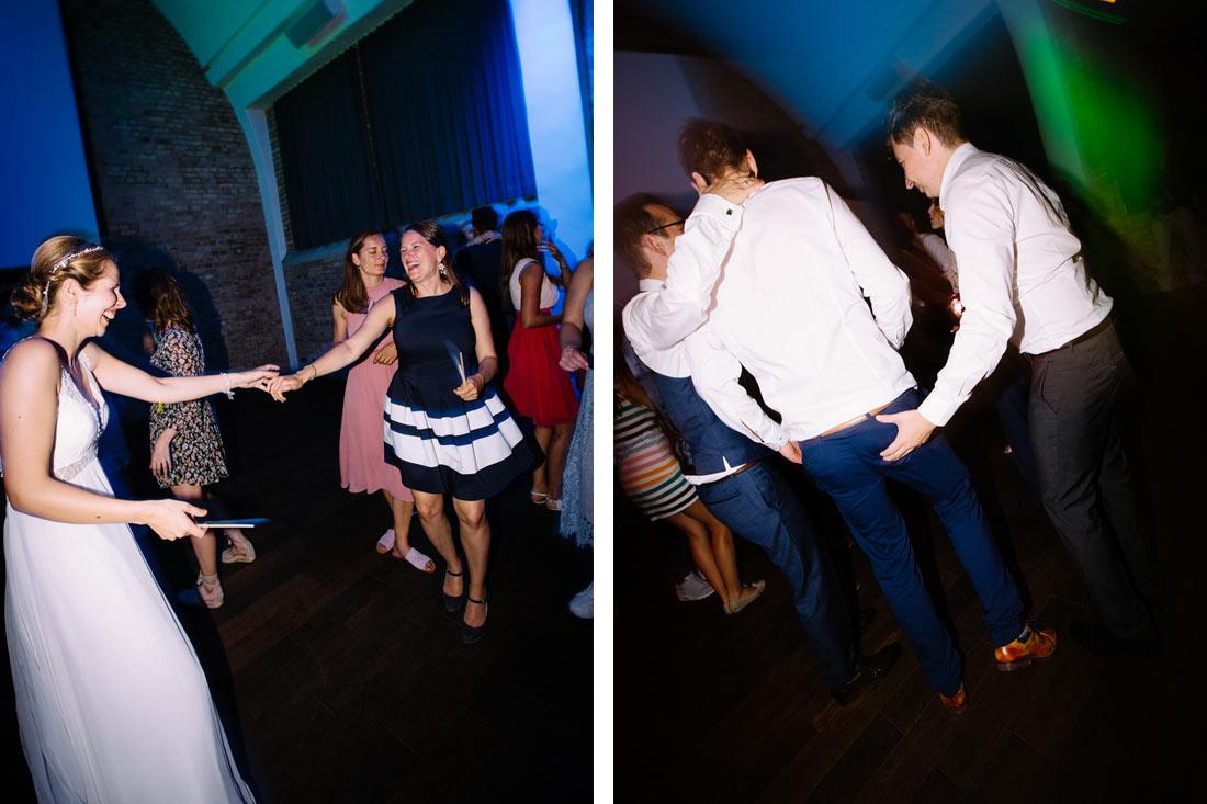 Braut feiert