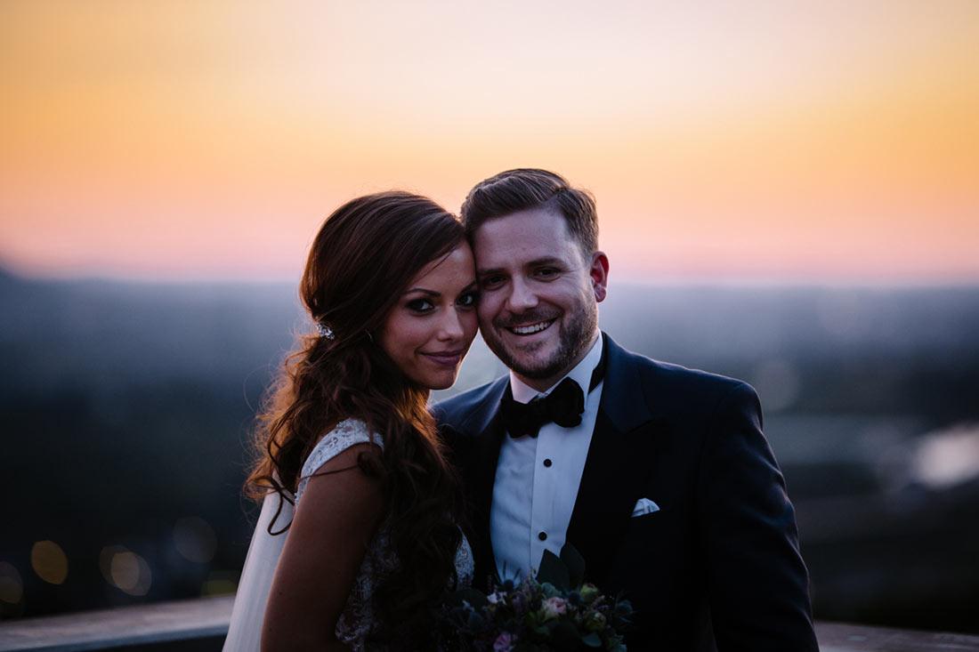 Hochzeitsbilder am Abend