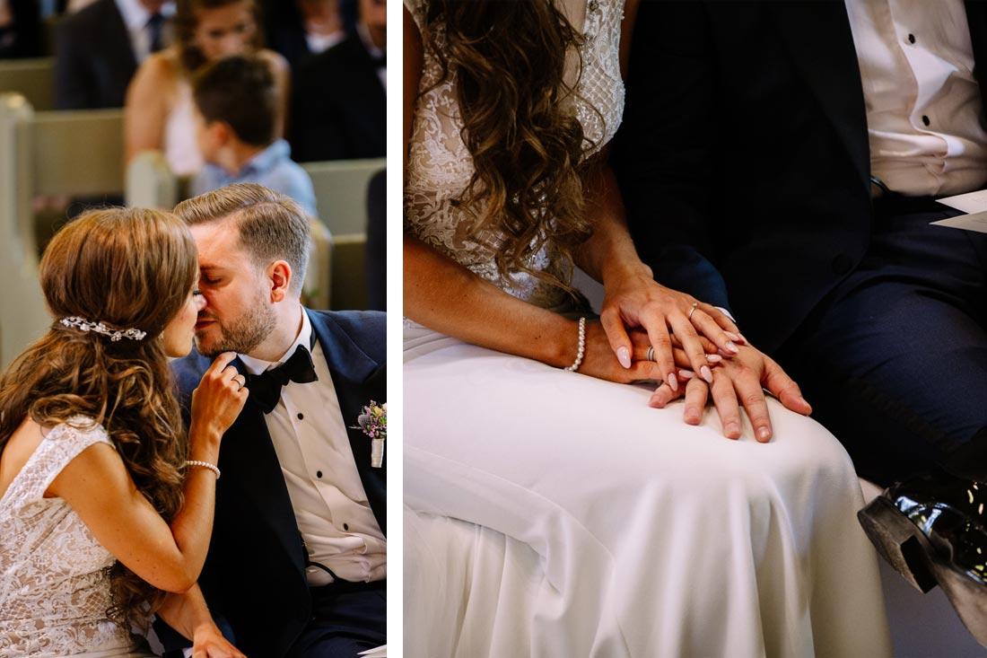 Paar hält Hände