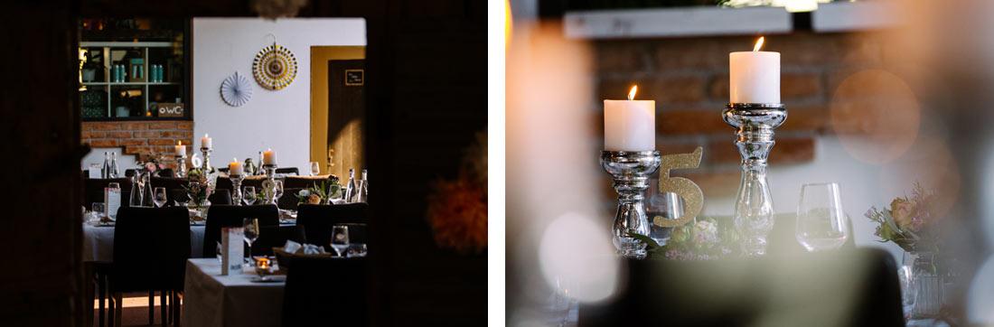Kerzen auf dem Tisch